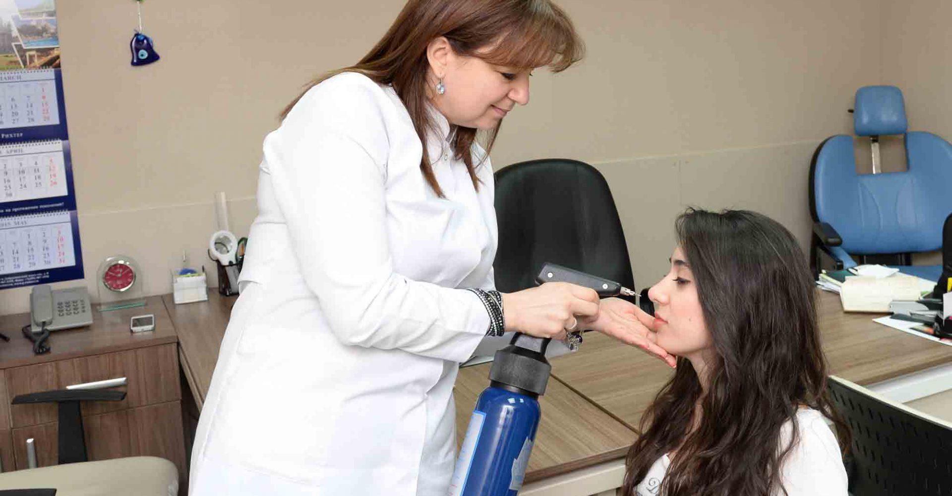 Dermatologiya. Maye Azotla yandırma apparatı